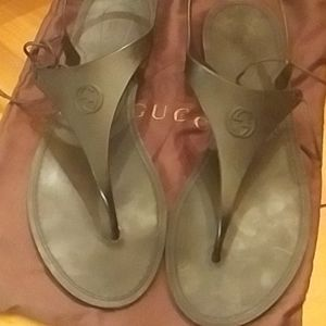 Gucci rubber sandals
